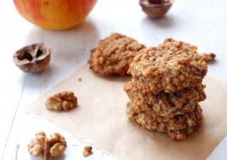 Almás-zabpelyhes keksz