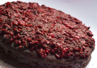 Csokoládés-meggyes paleo torta