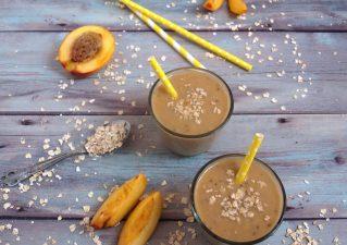 Nektarin-banán smoothie