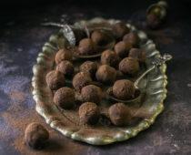Whiskey-s csokoládégolyó