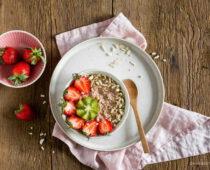 Gluténmentes zabkása szuper gyümölcsök porkeverékkel